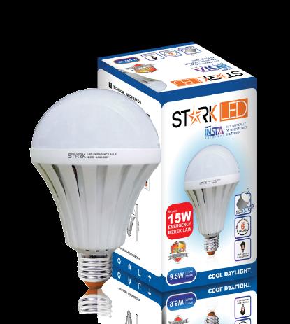 9.5 Watt StarkLED (Insta Smart Bulb) Automatically ON when power Shutdown Specification Value LED Power 9.5 Watt ITEM CODE ST2MB7WP INPUT VOLTAGE AC 85-265 ...