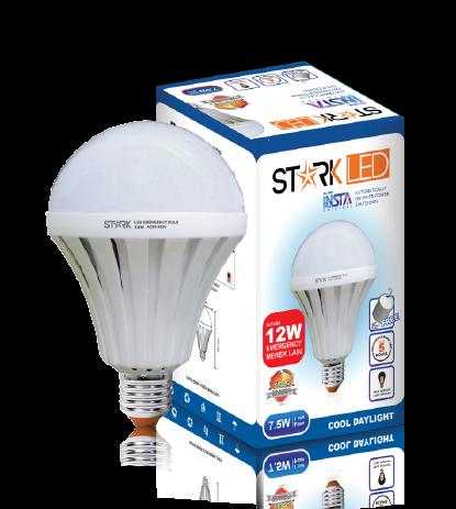 7.5 Watt StarkLED (Insta Smart Bulb) Automatically ON when power Shutdown Specification Value LED POWER 7.5 Watt ITEM CODE ST3MB7WP INPUT VOLTAGE AC 85-265V ...
